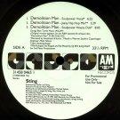 """police] sting demolition man 6 remixes wlb promo DJ 12"""""""