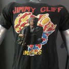 jimmy cliff images 1989 2 sided art reggae MEDIUM tour tee. RARE!