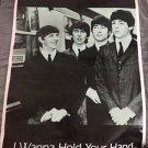 beatles vintage i wanna hold your hand poster