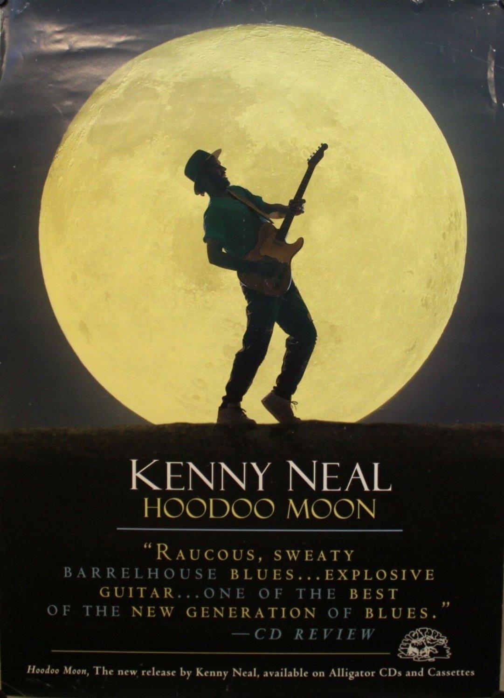 kenny neal hoodoo moon 1994 blues promo poster