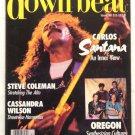 Down beat jazz Magazine Feb1988 Carlos Santana Jaco Pastorius