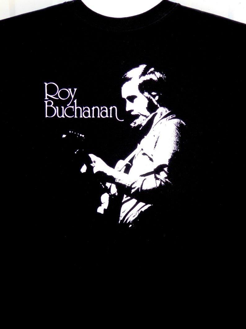 roy buchanan blues guitar great 2xl black tee