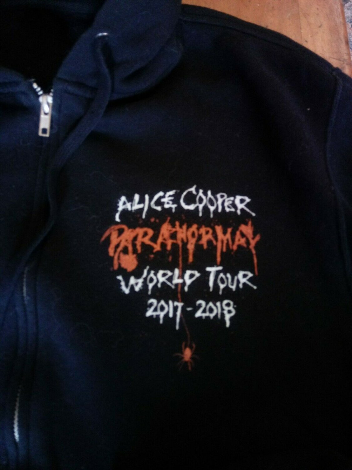 alice cooper paranormal 2017-2018 L OFFICIAL tour hoodie