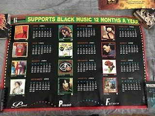 pgd 1991-1992 supports black music month rare promo poster