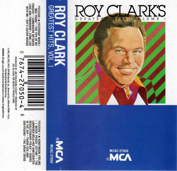 Country) Roy Clark Greatest Hits Vol. 1 VG+ '75 Cassette