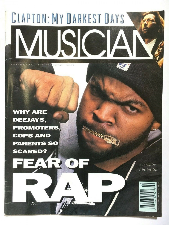 musician magazine 1992 eric clapton ice cube rap