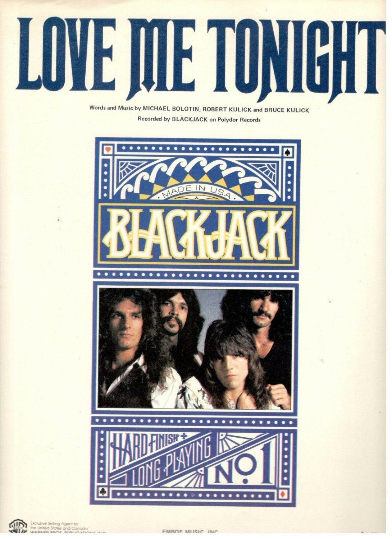 Michael Bolton & Blackjack Love Me Tonight Mint '79 Sheet Music