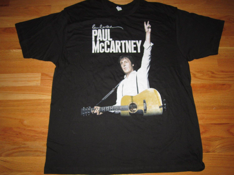 beatles) paul mccartney on the run 2011 LARGE tour tee