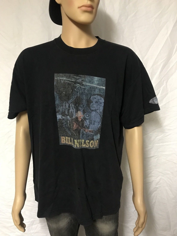 Bill Nelson & Guitar Vintage Fan Club XL T-Shirt early 200os