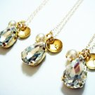 Monogram Gold Necklace - 14k Gold Filled Sensitive Skin Initial Bridesmaid Gift