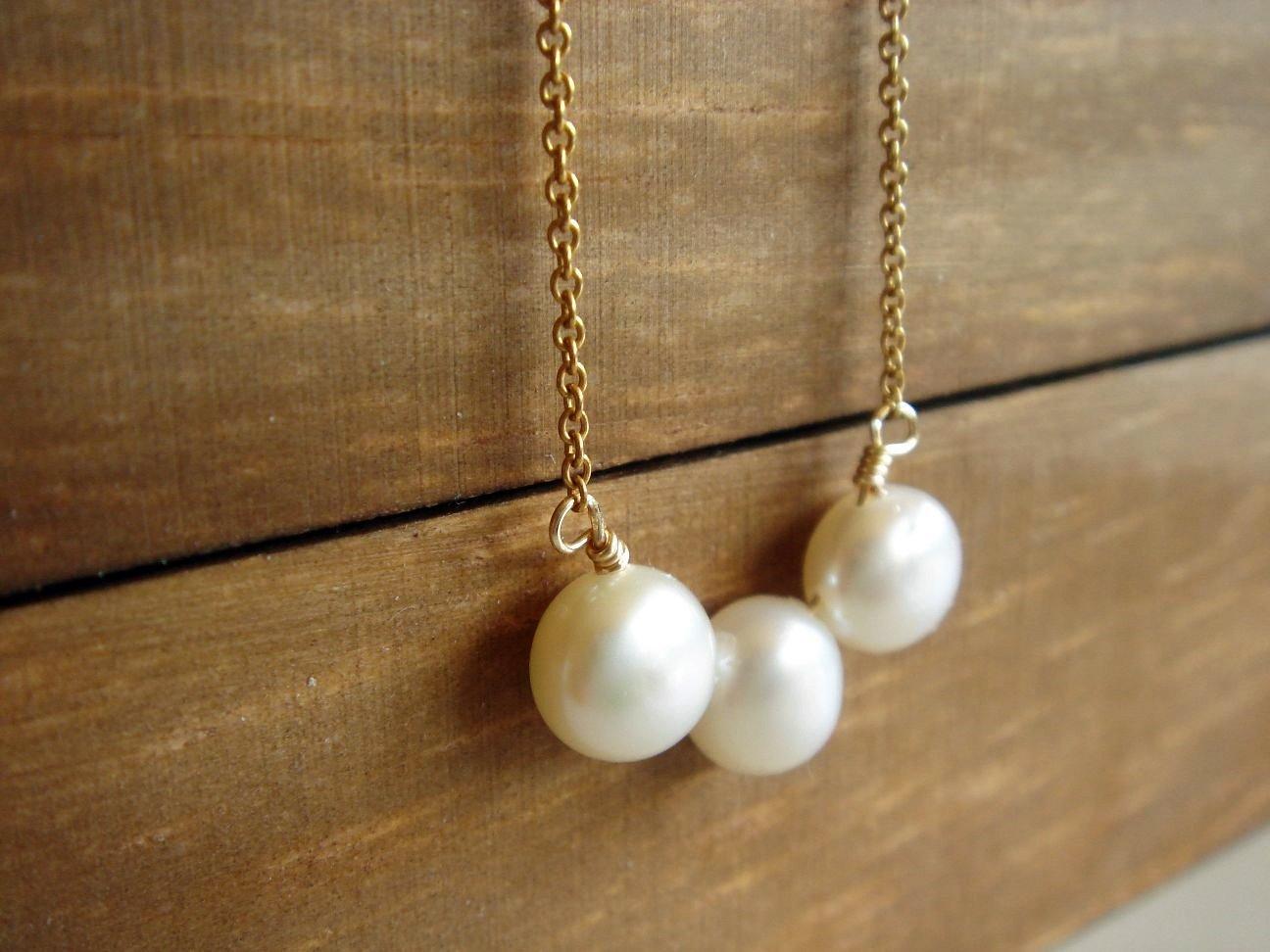 Sensitive Skin Necklace - 14k Gold Filled Freshwater Pearl Gift