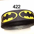 "5 yard - 1.5"" Black Batman inspired  Grosgrain Ribbon Hair bow"