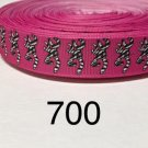 "5 yard - 7/8"" Zebra Browning Deer Hot Pink Grosgrain Ribbon"