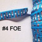 "5 yard - 5/8"" Blue Cat In The Hat Fold Over Elastic Headband"