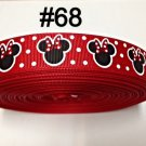 "5 yard - 7/8"" Red Polka Dot Minnie Mouse inspired Grosgrain Ribbon"