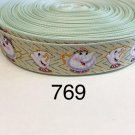 """5 yard - 1"""" Tea Pot & Tea Cup inspired from Beauty and the Beast Grosgrain Ribbon"""