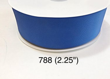 "5 yard - 2.25"" Jumbo Solid Blue Grosgrain Ribbon"