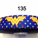 "5 yard - 7/8"" Wonder Woman with Star Motif Blue Grosgrain Ribbon"