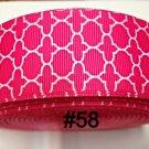 "5 yard - 1.5"" Hot Pink White Quatrefoil Grosgrain Ribbon"