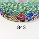 "5 yard - 7/8"" Inside Out on Chevron Grosgrain Ribbon"