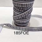 "5 yard - 5/8"" Piano Musical Equipment on White Fold Over Elastic"