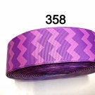 "5 yard - 1.5"" Purple Chevron Grosgrain Ribbon"