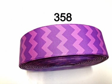 "5 yard - 1.5"" Purple Chevron Grosgrain Ribbon"