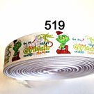 """5 yard - 1"""" Christmas I'm so cute even Grinch want to steal me on White Grosgrain Ribbon"""