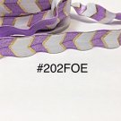 "5 yard - 5/8"" Gold, Purple and White Fold Over Elastic"
