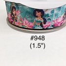 "5 yard - 1.5"" Princess Jasmine in Flower Garden Grosgrain Ribbon"