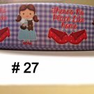 "5 yard - 1"" Wizard Of Oz Inspired Dorothy There is No Place Like Home Grosgrain Ribbon"