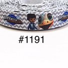 "5 yard - 7/8"" Miles From Tomorrowland Chevron Grosgrain Ribbon"