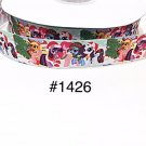 "5 yard -  1"" Christmas My Little Pony and Friends on the Snow Grosgrain Ribbon"