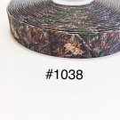 "5 yard - 7/8"" Camo Tree Grosgrain Ribbon"