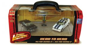 Johnny Lighting Head to Head:  '65 Ford Mustang GT vs. '05 Ford Mustang GT