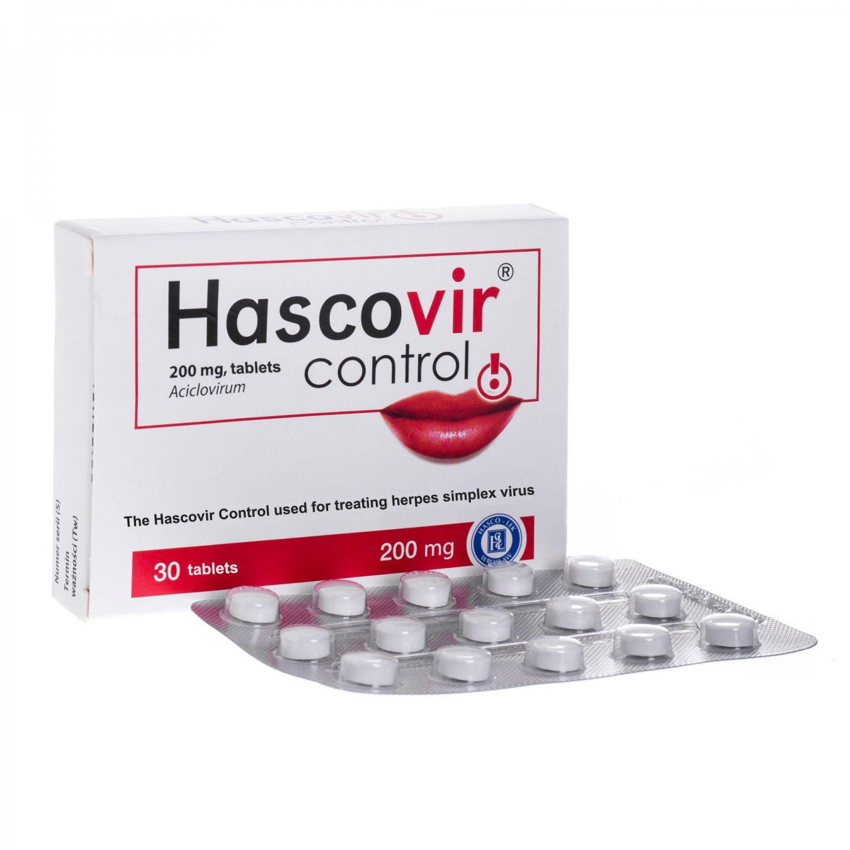 Hascovir Control Cold Sore Herpes HSV Simplex Virus Treatment 25 Pills