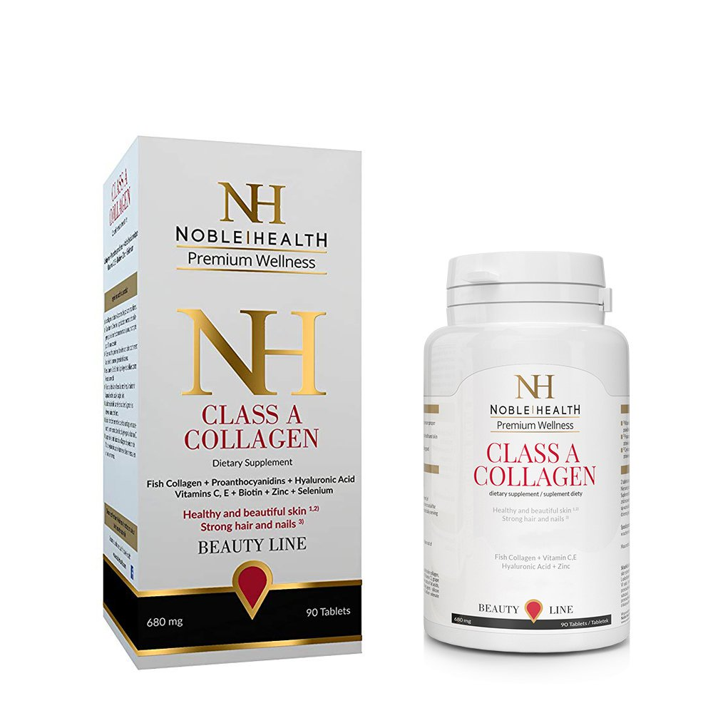 Noble Health Class A Fish Collagen Food Supplement 90 Tablets