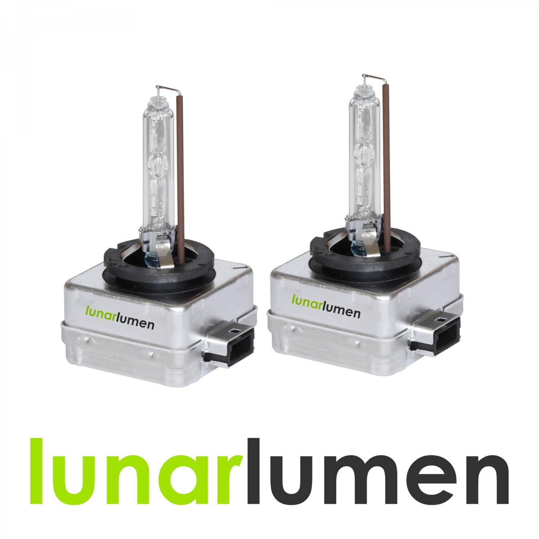 2 x Lunar Lumen D1S HID Xenon Headlight Bulbs 10000K