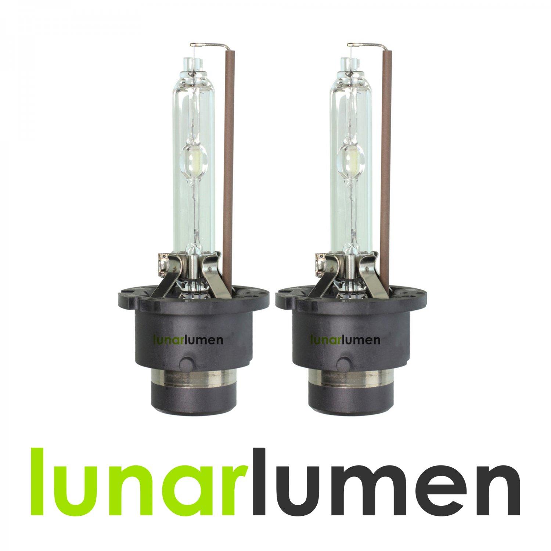 2 x Lunar Lumen D2S HID Xenon Headlight Bulbs 10000K