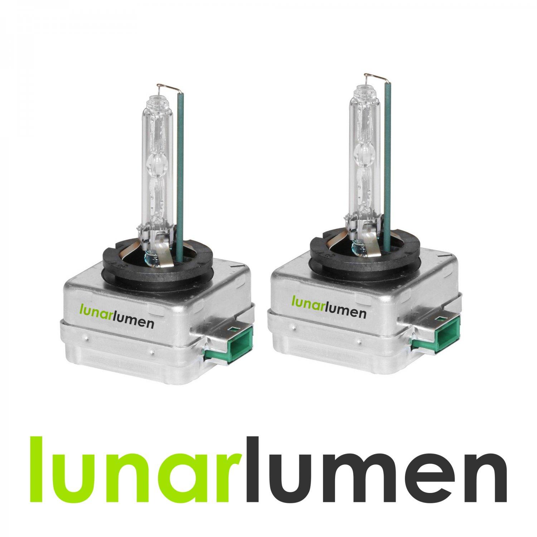 2 x Lunar Lumen D3S HID Xenon Headlight Bulbs 6000K