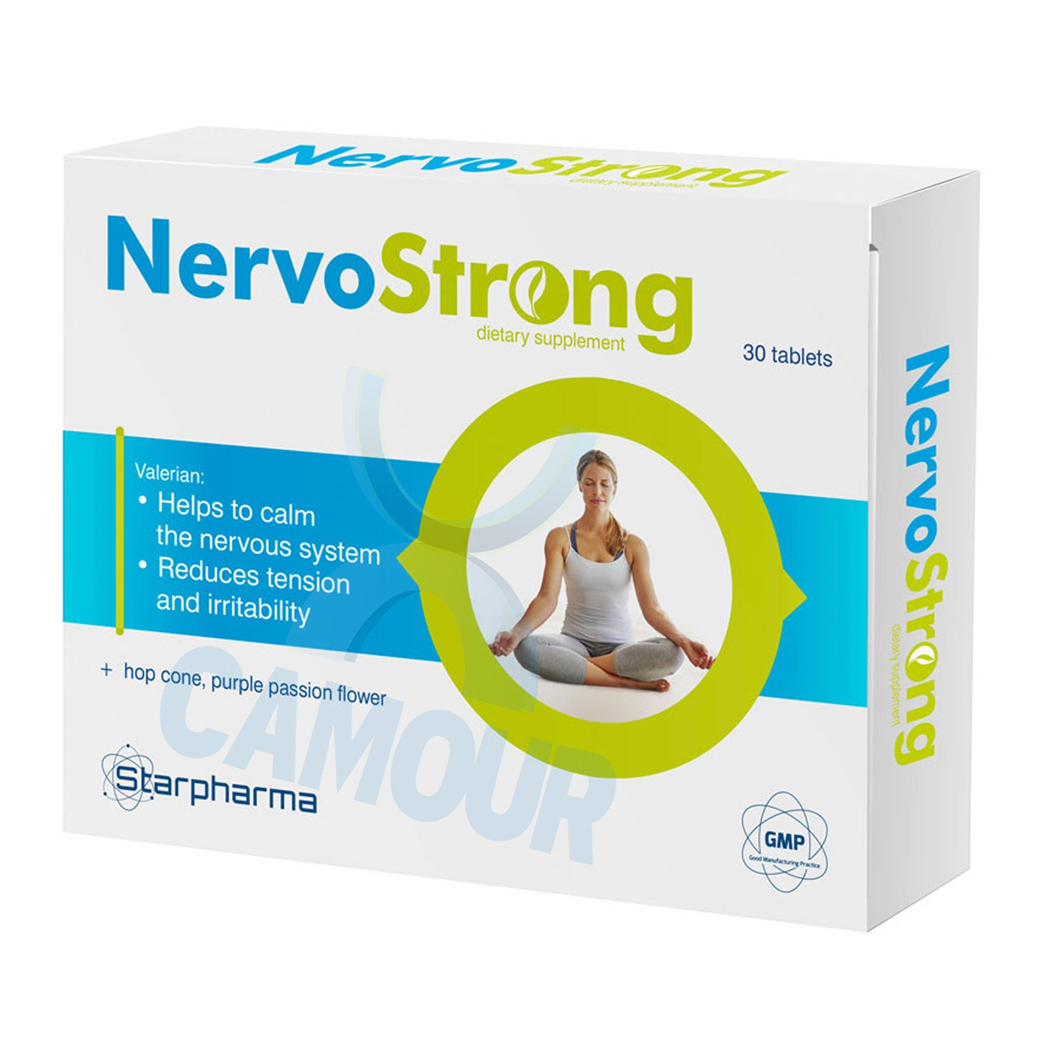 Starpharma NervoStrong Food Supplement to Calm Nervous System Reduces Tension