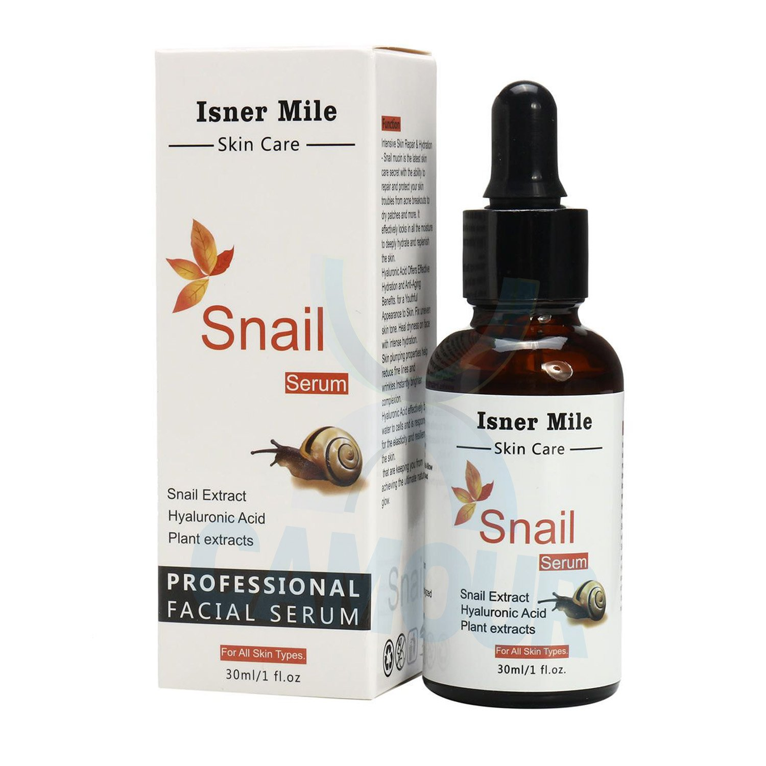 Isner Mile Professional Snail Extract Face Facial Serum Hyaluronic Acid 30ml