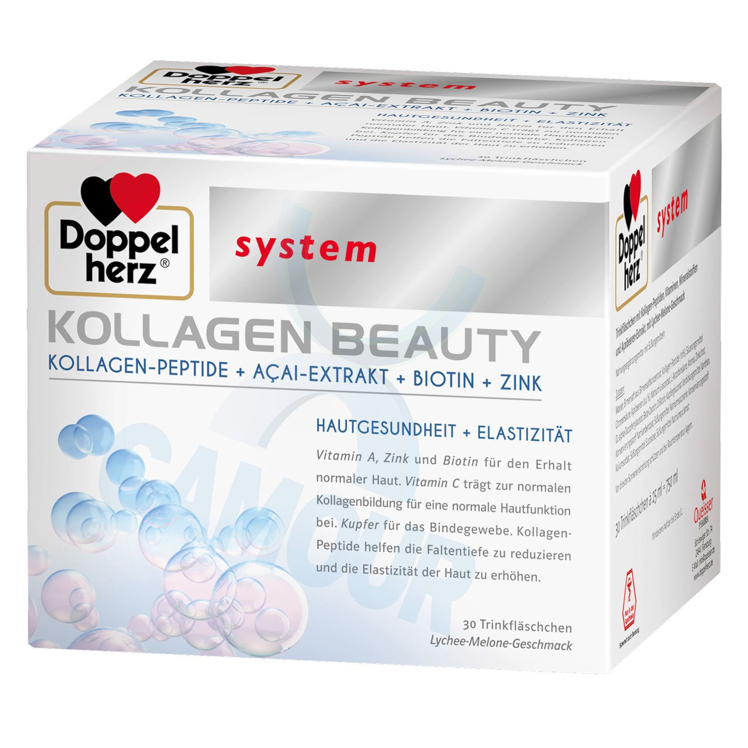 Doppelherz Kollagen Collagen Beauty System Zinc Biotin Skin Health 30 x 25ml