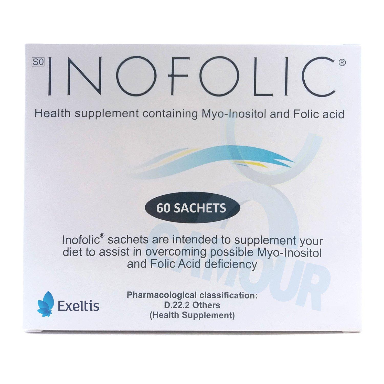 60 x Inofolic Sachets PCOS Treatment Ovulation Conceive Inositol Folic Acid