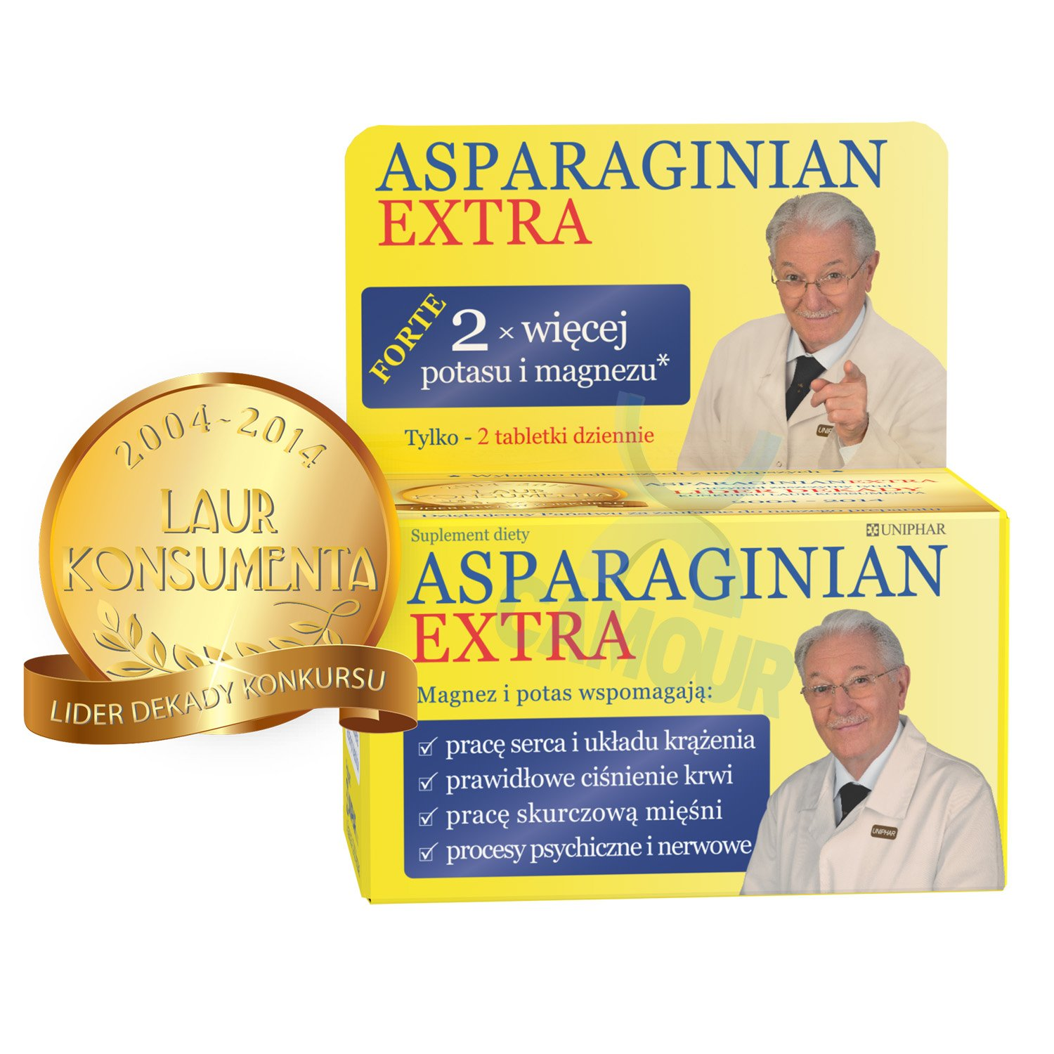 Asparaginian Extra Food Supplement Double Dose of Potassium & Magnesium 50 Tabs