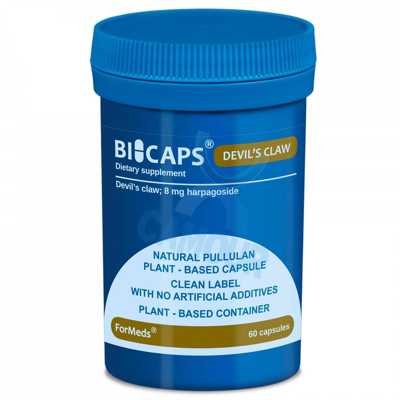 Bicaps Devil's Claw 8mg Harpagoside Plant Based Vegan Supplement 60 Capsules