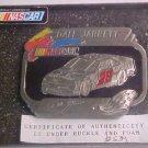 Vintage Dale Jarrett #28 TEXACO NASCAR Racing Pewter Belt Buckle COA Mint LOOK!!
