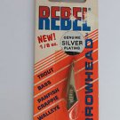 Vintage Rebel ArrowHead Spoon Jig Lure New Old Bass Fishing Bait Lure Sliver NEW