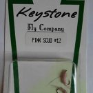 Keystone Fly Co 2 Nymphs Trout Pike Fishing Flies Flys Lures Pink Scud #12 NEW*