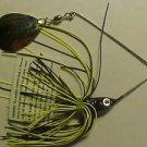 1/4oz Spinner-Bait Black Yellow Chart Bass Fishing Lure NEW